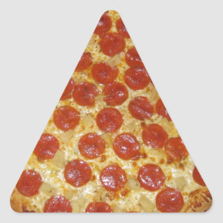 Pepperoni pizza triangle sticker