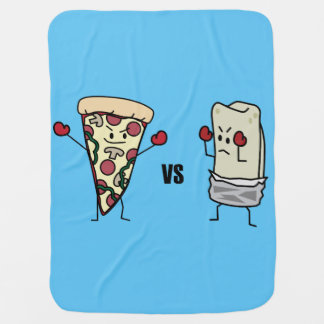 Pepperoni Pizza VS Burrito: Mexican versus Italian Baby Blanket