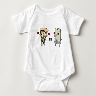 Pepperoni Pizza VS Burrito: Mexican versus Italian Baby Bodysuit