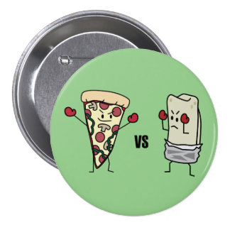 Pepperoni Pizza VS Burrito: Mexican versus Italian Button
