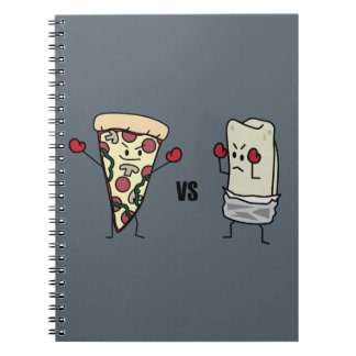 Pepperoni Pizza VS Burrito: Mexican versus Italian Notebook