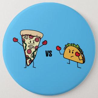 Pepperoni Pizza VS Taco: Mexican versus Italian Button