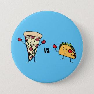 Pepperoni Pizza VS Taco: Mexican versus Italian Pinback Button