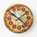 Pepperoni Pizza Wall Clock at Zazzle