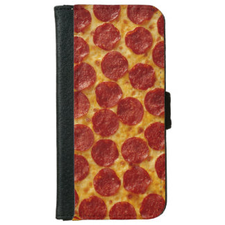 Pepperoni Pizza Wallet Phone Case For iPhone 6/6s