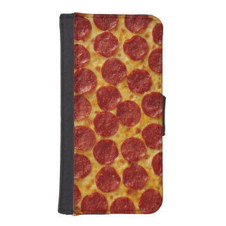 Pepperoni Pizza Wallet Phone Case For iPhone SE/5/5s