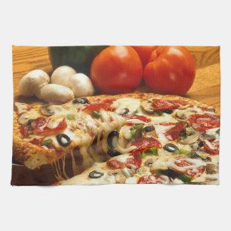 Pepperoni Supreme Pizza Kitchen Towel