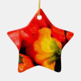 peppers 131 ceramic ornament