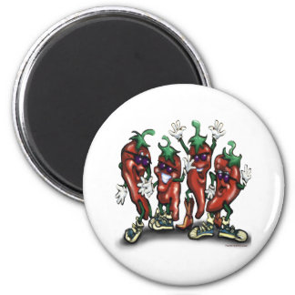 Peppers 2 Inch Round Magnet