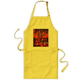 Peppers and String Beans Long Apron