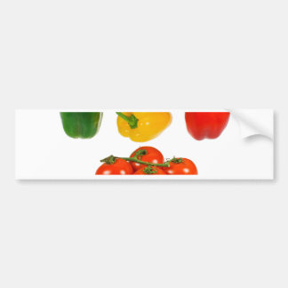 Peppers and tomatoes bumper sticker