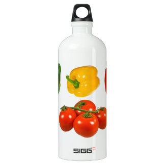 Peppers and tomatoes water bottle