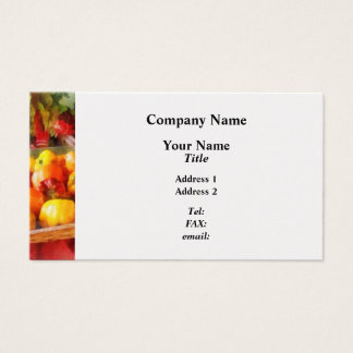 Peppers at Farmers Market Business Card