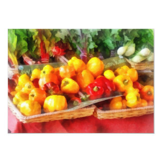 Peppers at Farmers Market Card