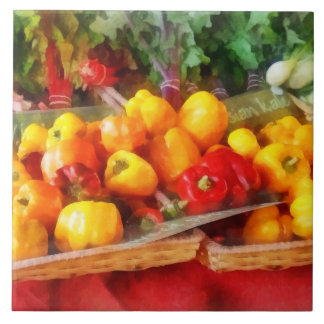 Peppers at Farmers Market Ceramic Tile