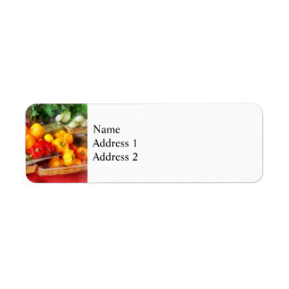 Peppers at Farmers Market Label