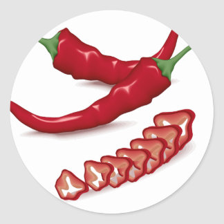 Peppers Classic Round Sticker