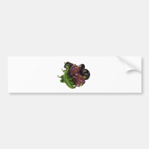 Peppers & eggplant bumper sticker