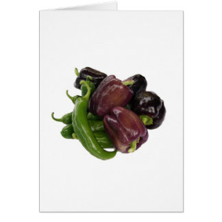 Peppers & eggplant card