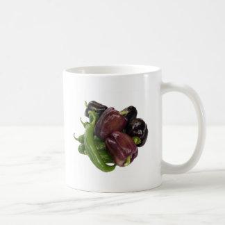 Peppers & eggplant coffee mug