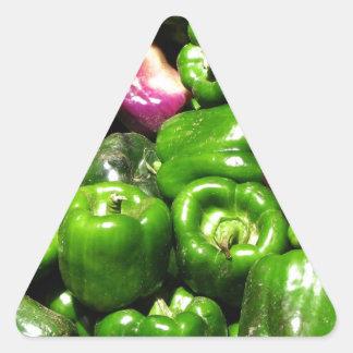 Peppers  Green Purple Triangle Sticker