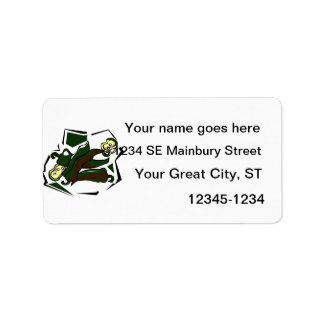 Peppers grn abstract square graphic custom address labels