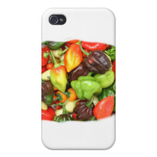 Peppers, hot and spicy photograph covers for iPhone 4