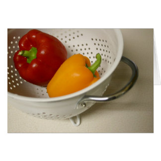 Peppers in colander card