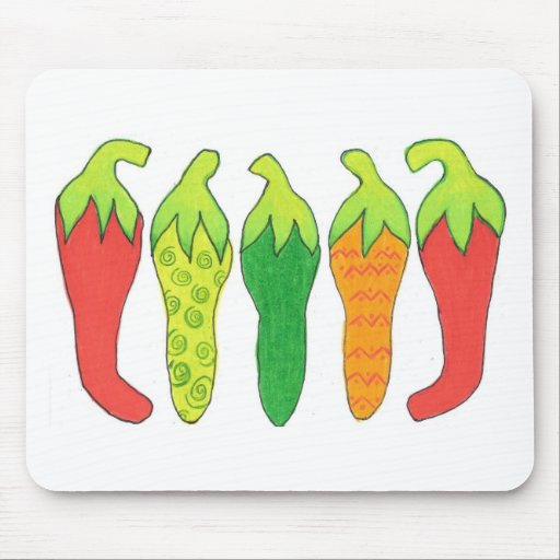 Peppers of Color Mouse Pad