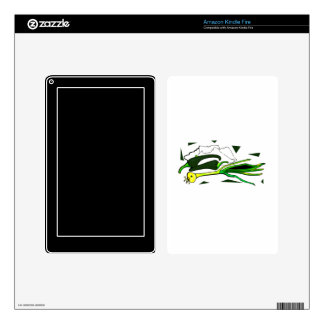 peppers scallions green graphic kindle fire decal