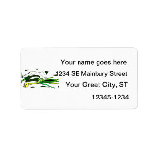 peppers scallions green graphic address label