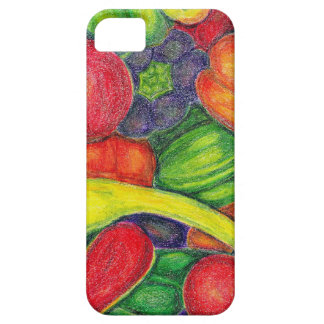 Peppers watercolor pencil art iPhone 5 case