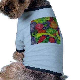 Peppers watercolor pencil art pet t shirt