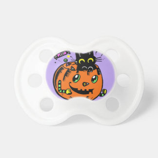 Peppy Pumpkin and Kitty Halloween Baby Pacifier