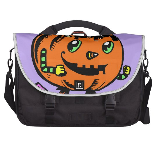 Peppy Pumpkin and Kitty Halloween Bags For Laptop