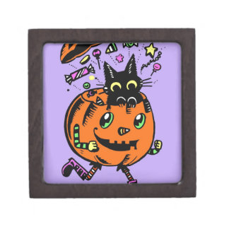 Peppy Pumpkin and Kitty Halloween Gift Box
