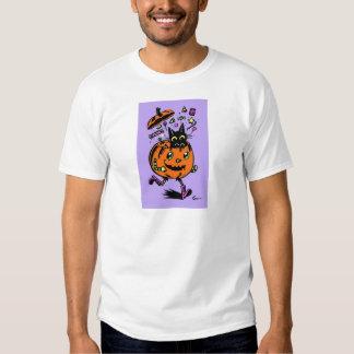 Peppy Pumpkin and Kitty Halloween T-Shirt