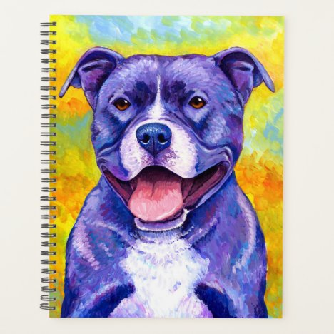 Peppy Purple Pitbull Terrier Dog Planner