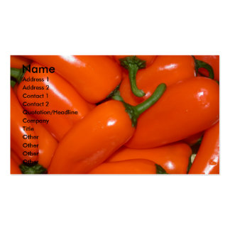 Peprika Peppers Business Card