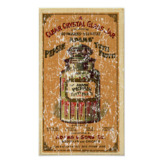 Pepsin Tutti Frutti Gum-1897- distressed Poster