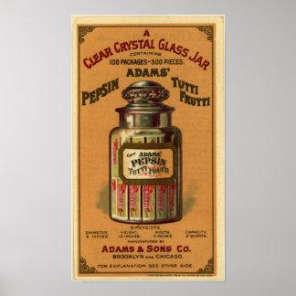 Pepsin Tutti Frutti Gum-1897 Poster