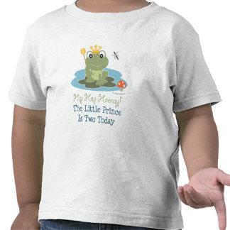 Pequeña 2da camiseta del cumpleaños de príncipe