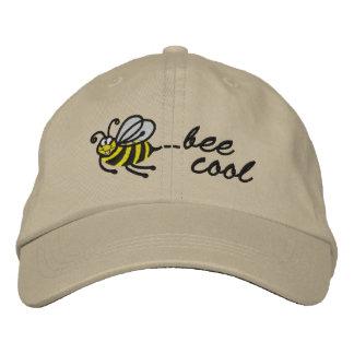 Pequeña abeja - abeja fresca - casquillo gorros bordados