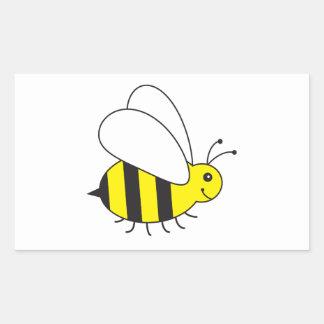 Pequeña abeja divertida de la miel linda pegatina rectangular