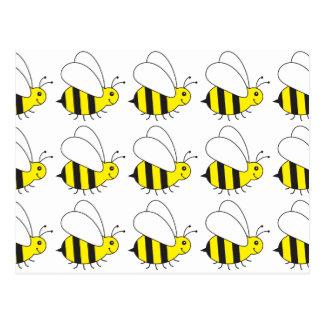 Pequeña abeja divertida de la miel linda tarjetas postales