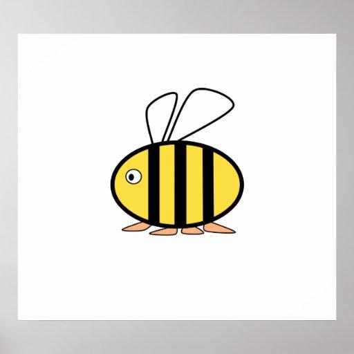 Pequeña abeja linda póster
