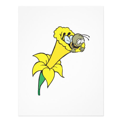 pequeña abeja tonta en narciso tarjetones