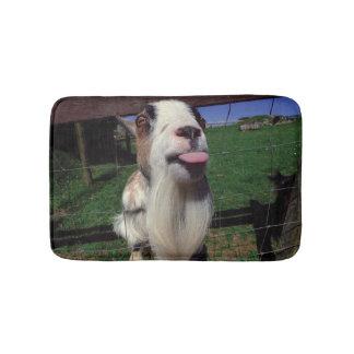 Pequeña alfombra de baño de la cabra fresca