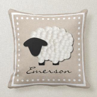 Pequeña almohada conocida personalizada del cuarto