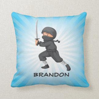 Pequeña almohada de tiro del diseño de Ninja